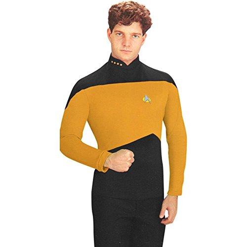 Adult's Yellow Star Trek Next Generation Shirt (Size: X-Large 44-46)