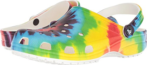 Crocs Women's Classic Tie Dye Graphic Clog, Multi, 8 US Women / 6 US Men from Crocs