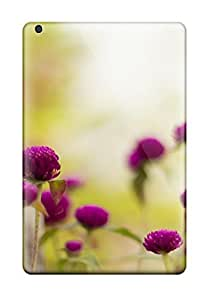 7639759K58411518 For Ipad Protective Case, High Quality For Ipad Mini 3 Purple Garden Flowers Skin Case Cover