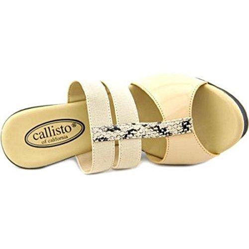 Callisto Burbon Synthetic Platform Sandal Beige vm7BNO