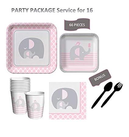 Amazon.com: Little Peanut Baby Shower Party Supplies Set ...
