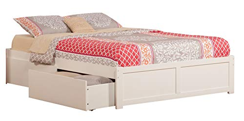 Atlantic Furniture AR8052112 Concord Bed, King, White