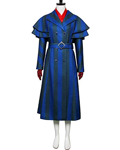 COSFLY Women Nanny Mary Returns Costume Elegant Long Trench Coat Overcoat Cosplay Dress Suit (Small) for $<!--$180.75-->