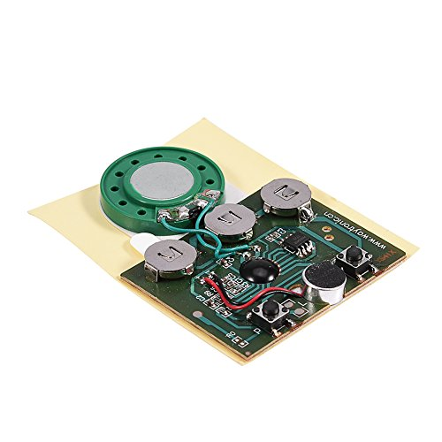 fosa 30s Music Sound Voice Recording Module Device Chip 0.5W with Button Battery for DIY Audio Cards(Photosensitive Control)