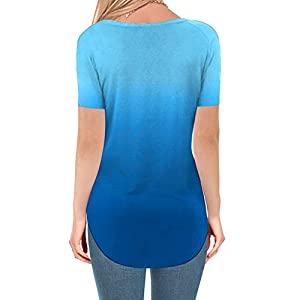 Canifon Women's T-Shirts Short Sleeve Crew Neck Casual Blouses Solid Color Loose Plus Size Simplicity Linen Summer Retro Tunic Tops