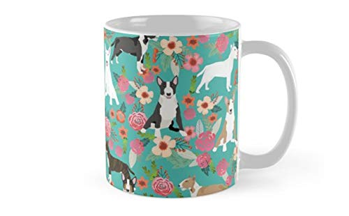 Bull Terrier dog breed pattern florals dog lover gifts pet friendly designs Mug(One Size)