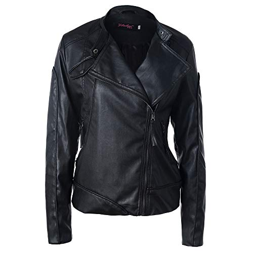 Londony ♥‿♥ Clearance Leather Jackets for Women,Slim Tailoring Faux Leather PU Short Moto Biker Jacket Coat