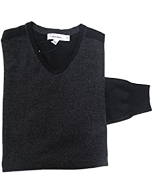 Calvin Klein V-neck Sweater Mens Size Small Black Combo