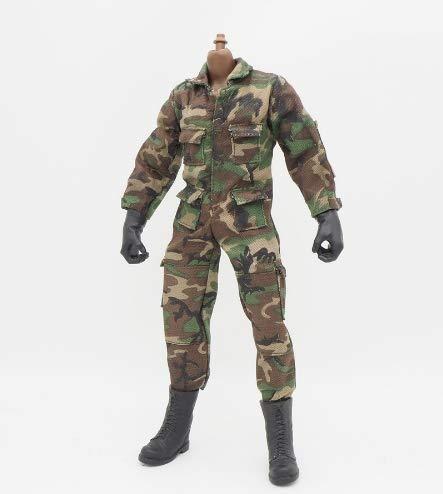 (Studio one 1/6 Scale Clothes Uniforms Soldier Jumpsuit for 12
