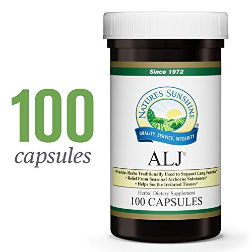 Nature's Sunshine ALJ, 100 Capsules | Herbal Respiratory Supplement Helps Support The Body During Seasonal Changes