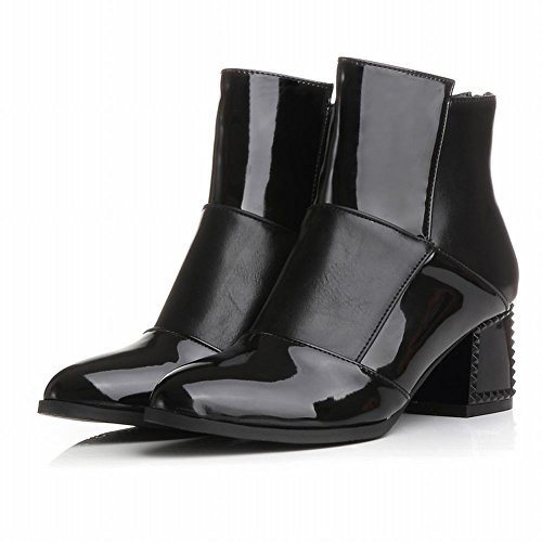 Charm Foot New Fashion Ladies Mid Heel Stivaletti Martin Boots Neri