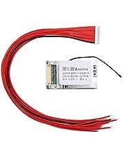 Surebuy Proteção de bateria 18650, placa de proteção de bateria de íon de lítio 10s 36v 30a, placa PCB BMS com função de equilíbrio para veículos elétricos, ciclões elétricos