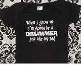 Future drummer baby bodysuit daddy is a drummer infant one piece