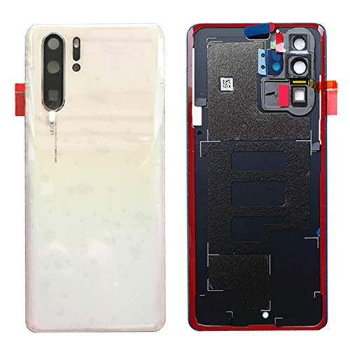 Draxlgon Rear Battery Door Housing Back Cover Replacement with Camera Lens for Huawei P30 Pro VOG-L09 VOG-L29 Pearl ()