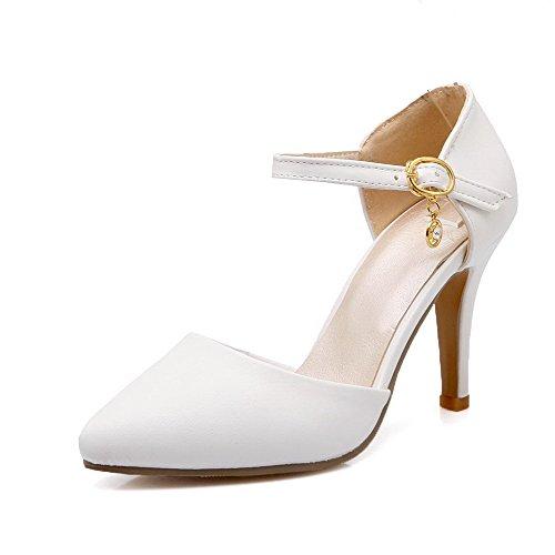 ferme Chaussures VogueZone009 Soft fermé à Femmes Stilettos bout Blanc Spikes Material pointu Cw1gvqpw