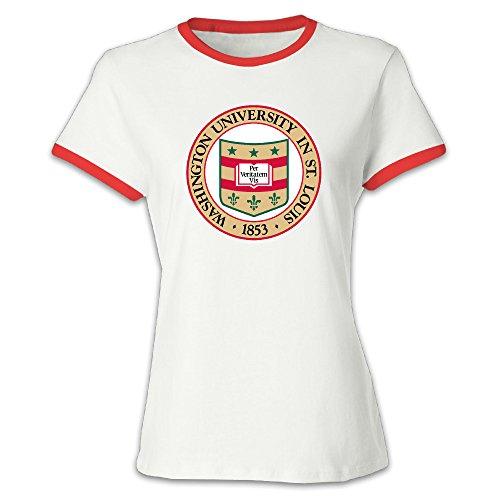 Louis University Baseball - Women's Washington University In St. Louis Seal Baseball Tee Shirt Red