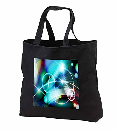 Price comparison product image Anne Marie Baugh - Abstract - Circles and Streamers Of Aqua Light Abstract - Tote Bags - Black Tote Bag JUMBO 20w x 15h x 5d (tb_251712_3)