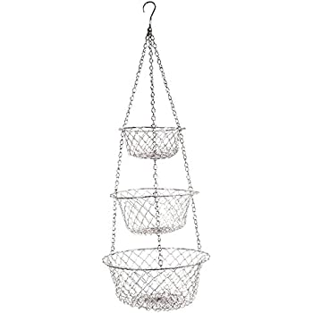 Amazon Com Fox Run 52103 Three Tier Hanging Wire Baskets One Size