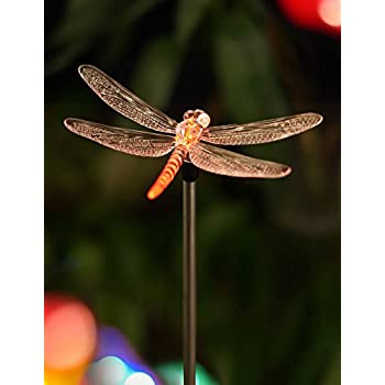 Amazon moonray 98007 solar powered dragonfly outdoor bright zeal 55 life size dragonfly led color changing solar stake lights outdoor dragonflies decorations outside solar lights for yard decoration mozeypictures Gallery
