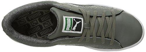 Puma Mens Cestino Classico Strutturato Moda Sneaker Castoro Grigio
