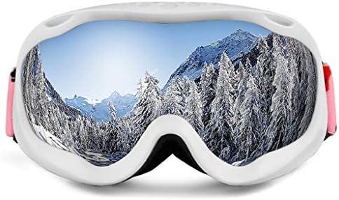 スキーゴーグル、フルフレームスキーゴーグル二層防曇大球形成人男性と女性のコカイン近視を搭載したスキーメガネ