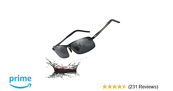 6e4a7162252 Amazon.com  MOORAY Polarized Sunglasses for Men UV Protection Mens Sport  Sunglasses for Driving Fishing  Clothing