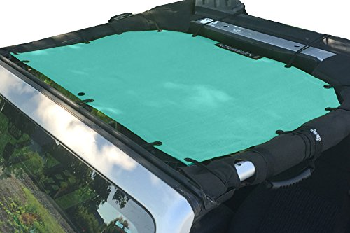 Alien Sunshade Jeep Sunshade Mesh Top Jeep Wrangler 2-Door JK 4-Door JKU 2007-2018 - 10 Year Warranty Front Jeep Blue