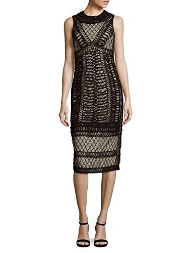 - Alice & Olivia NAT Embroidered Knee-Length Cocktail Dress