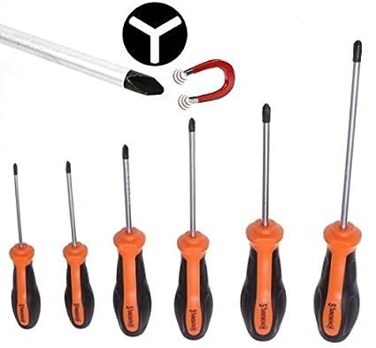 Juego de 6 destornilladores de 3 puntas triwing, trigram, para electrodomésticos