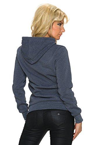 Fashion - Sudadera con capucha - Básico - Manga Larga - para mujer Dunkel Grau