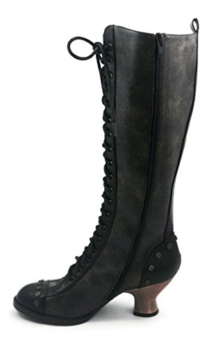 Hades Shoes H-Dome 2 inch Lace-up Retro Knee Boot 5