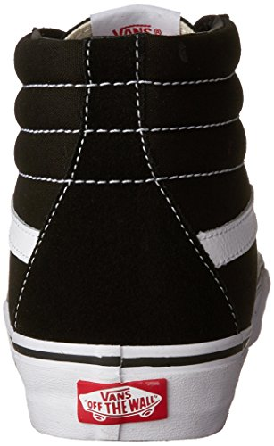 Adulto Nero Vans Unisex SK8 White Alte Sneaker Classic Black Hi Canvas Suede 4Own48qz