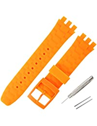 21mm Replacement Swatch Watch Strap Waterproof Silicone Rubber Watch Band