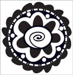 "Daisy Bucket Clear Stamp 2""X2"" Mod Flower"