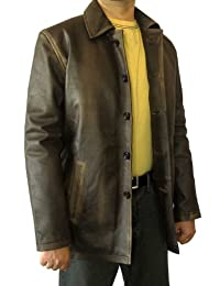 BlingSoul Super Brown Distressed Leather Jacket ►BEST SELLER◄