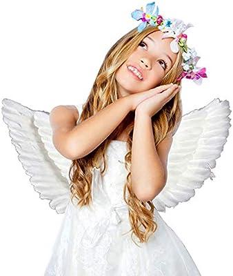 Dightyoho Alas de ángel de Plumas para Adultos, Disfraz de Hada ...