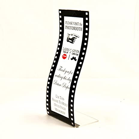 Amazon.com - Acrylic Wavy Film Photo Booth Frame Curved Hollywood ...