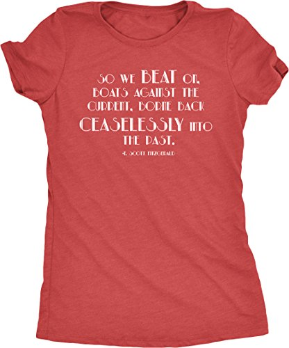 Great Gatsby Movie Clothes (F Scott Fitzgerald Great Gatsby Women's Tri-Blend T-Shirt (Red Frost,)