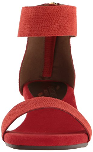 low shipping fee cheap online Aerosoles Women's Yetroactive Wedge Sandal Red Suede supply online discount wide range of ThXDn