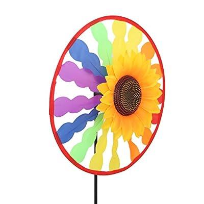 XISAOK Sunflower Windmill Whirligig Wind Spinner Home Yard Garden Decor Kids Child Toy: Home & Kitchen