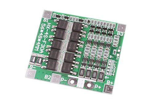 NOYITO 30A 4S 3.7V Lithium Battery Protection Board 14.8V with Balance Over-Current Over-Charge Over-Discharge Protection