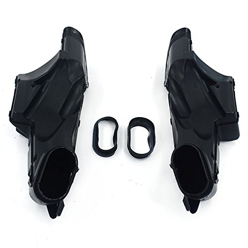 An Xin Motorcycle Black Ram Air Intake Tube Duct Left Right Fit For Suzuki GSXR600 750 06-07 K6: