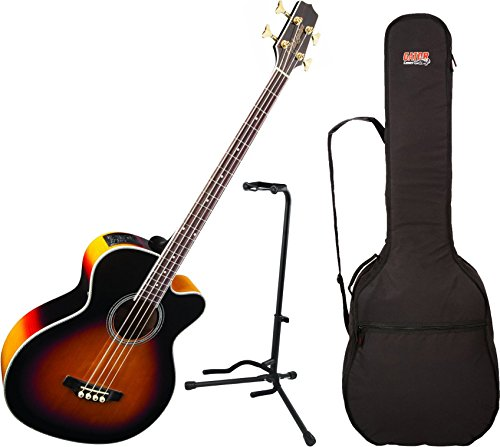 Takamine GB72CE-BSB Acoustic Bass Guitar With Gig Bag and Stand by Takamine