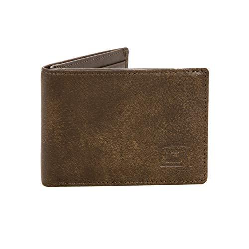 - Super Slim - Genuine Leather Bifold Wallet - 6 Slot RFID Blocking Wallet for Men