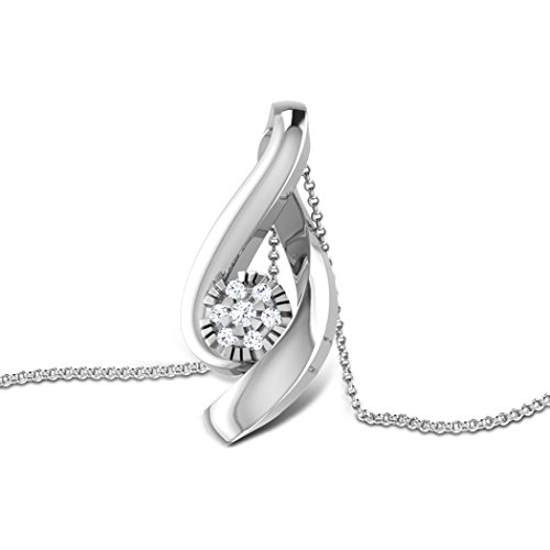 Or jaune 18 K 0,06 CT TW Round-cut-diamond (IJ | SI) Pendentif
