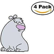 2 Stupid dogs 4 Stickers 4x4 Cartoon Car Bumper Window Sticker Decal_4