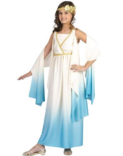 Fun World Greek Goddess Costume, Medium 8-10, Beige