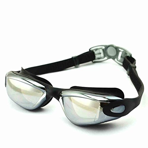 Swimming Goggles, Mirrored, Adjustable Anti fog,