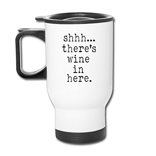 Toys Go Shhh There's Wine In Here Custom Cool Coffee Coffee Mug Coffee Travel Mug Coffee Thermos Thermos Coffee Travel Mug Coffee Thermos Custom Travel Blank Mug Business Mugs Travel Cup