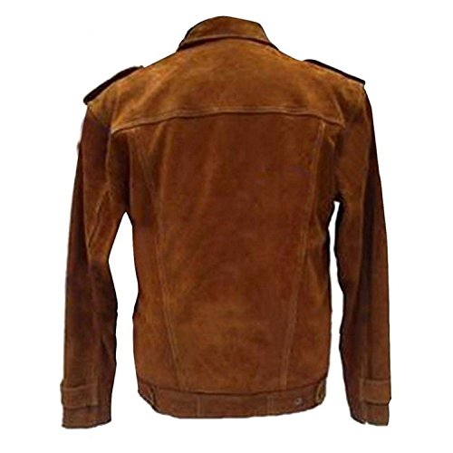 e Dark Brown Beatles Coller amp; Lennon Suede Brown Brown Jacket Genius John Leather Shirt rXIqxXZfw